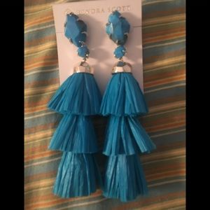 Kendra Scott Denise Tassel Earrings Aqua Blue